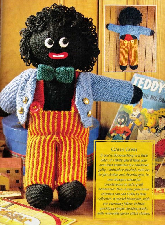 Vintage 1970s Golly My Golliwog Cute Knitted By Crafting4ever2013