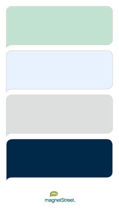Celadon Ice Silver And Navy Wedding Color Palette