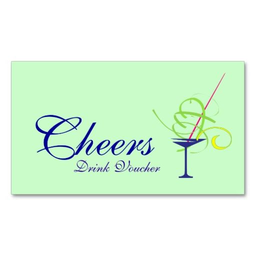 Wedding Drink Voucher Business Card Make your own business card - Make Your Own Voucher