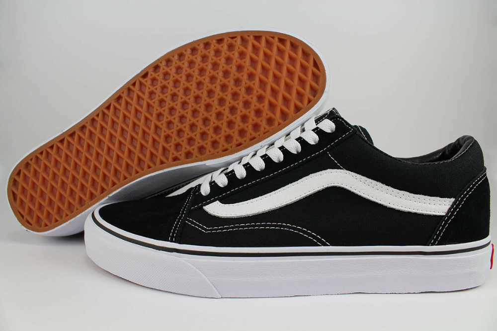 VAN S Old Skool Skate Shoes Black//White All Size HI//Low Classic Canvas Sneakers