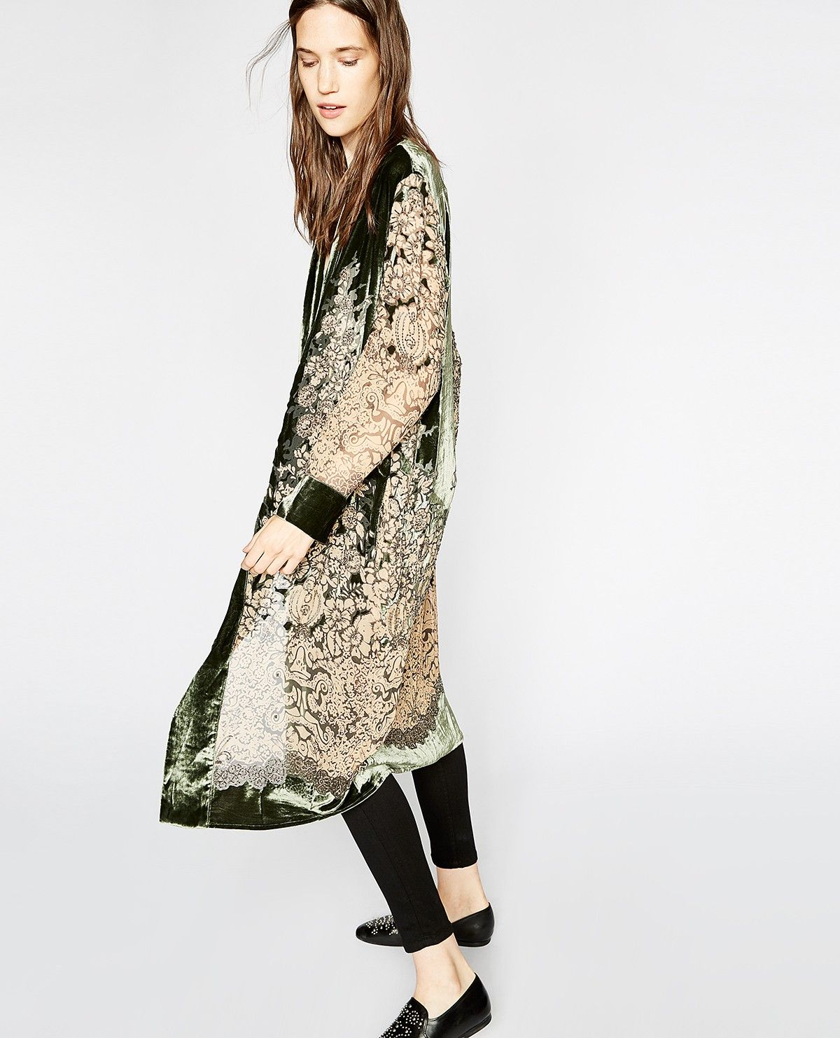 046bae4874 Long embroidered velvet kimono - Collection THE KOOPLES | Fashion by ...