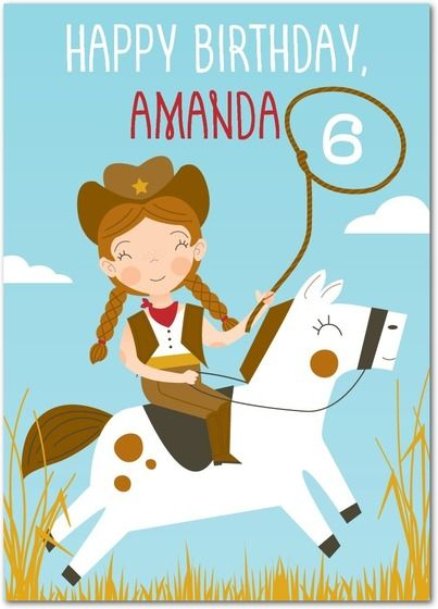 Western whimsy personalized birthday cards for kids at treat personalized birthday cards for kids at treat bookmarktalkfo Image collections