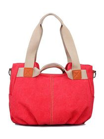 Versatile Zip Closure Handles Canvas Bag img