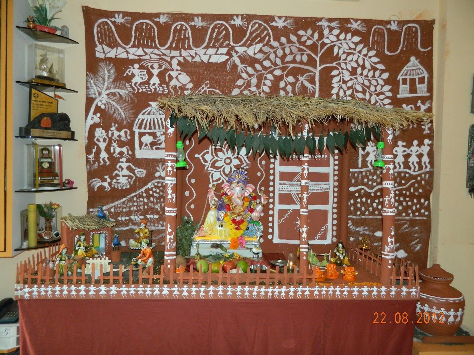 Warli Village Ganpati Decoration Theme Ganapati Eco Friendly Ganesh Chaturthi
