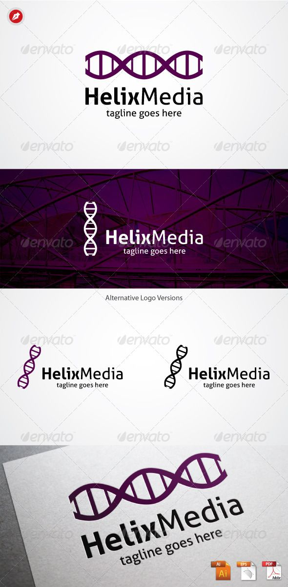 Helix Media Logo — Vector EPS #wave #cloud • Available here → https ...