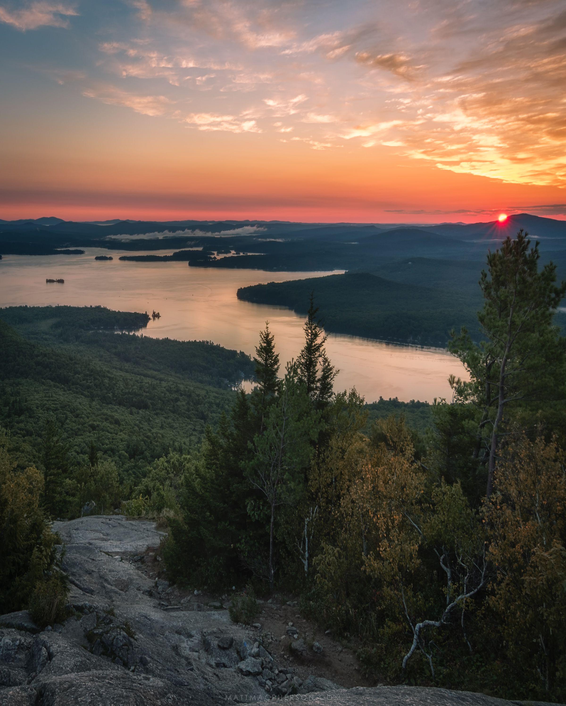 Summer Sunrise On Lake Winnipesaukee New Hampshire Oc 3000x2400 Mattmacphersonphoto Http Bit Ly 2r87gpt Januar Lake Winnipesaukee Summer Landscape Scenery
