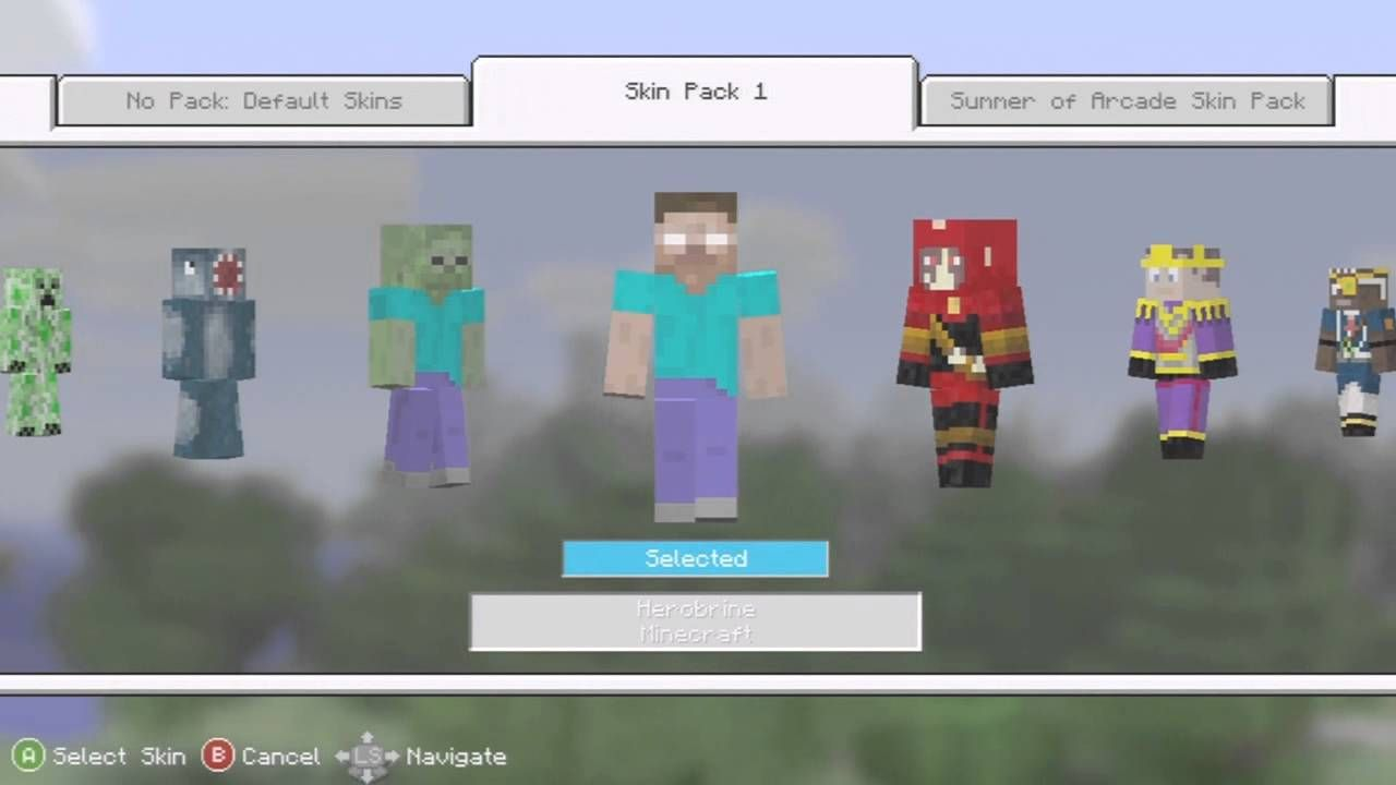 How To Get Skin Packs In Minecraft Xbox 360 Free