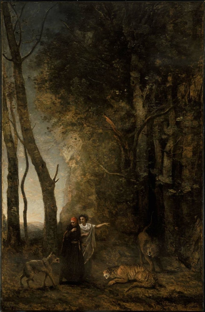 Dante And Virgil Jean Baptiste Camille Corot In 2020 Cool Landscapes Dante Landscape Paintings