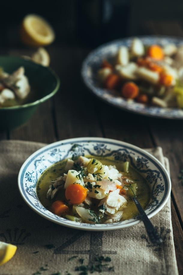 """Psarosoupa""- Greek Style Fish Soup"