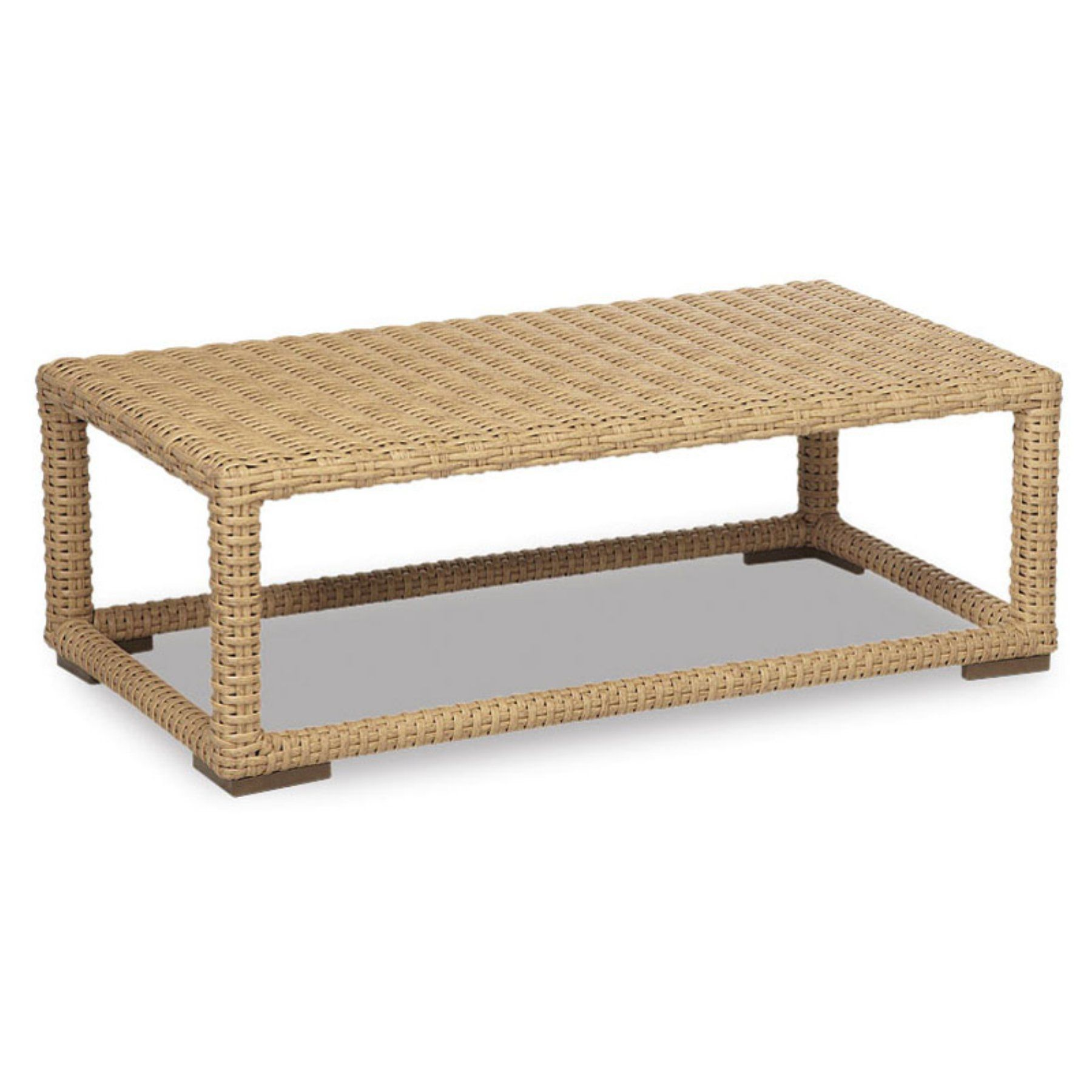 Outdoor Sunset West Leucadia Wicker Patio Coffee Table   2601 CT