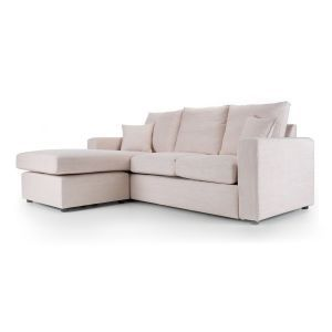 Camden Chaise Sofa in Taupe