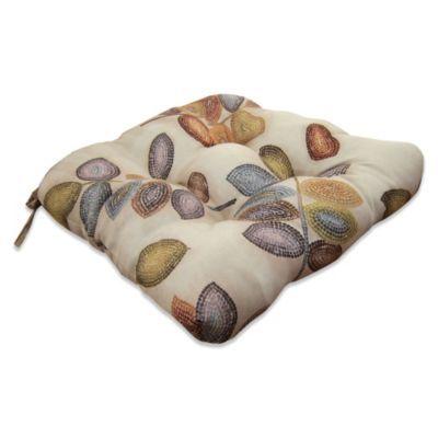 Croscill Mosaic Leaves Chair Pad Pads