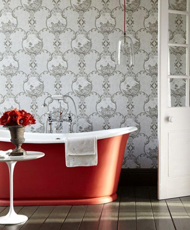 Papiers peints créatifs pour une salle de bain design Pinterest