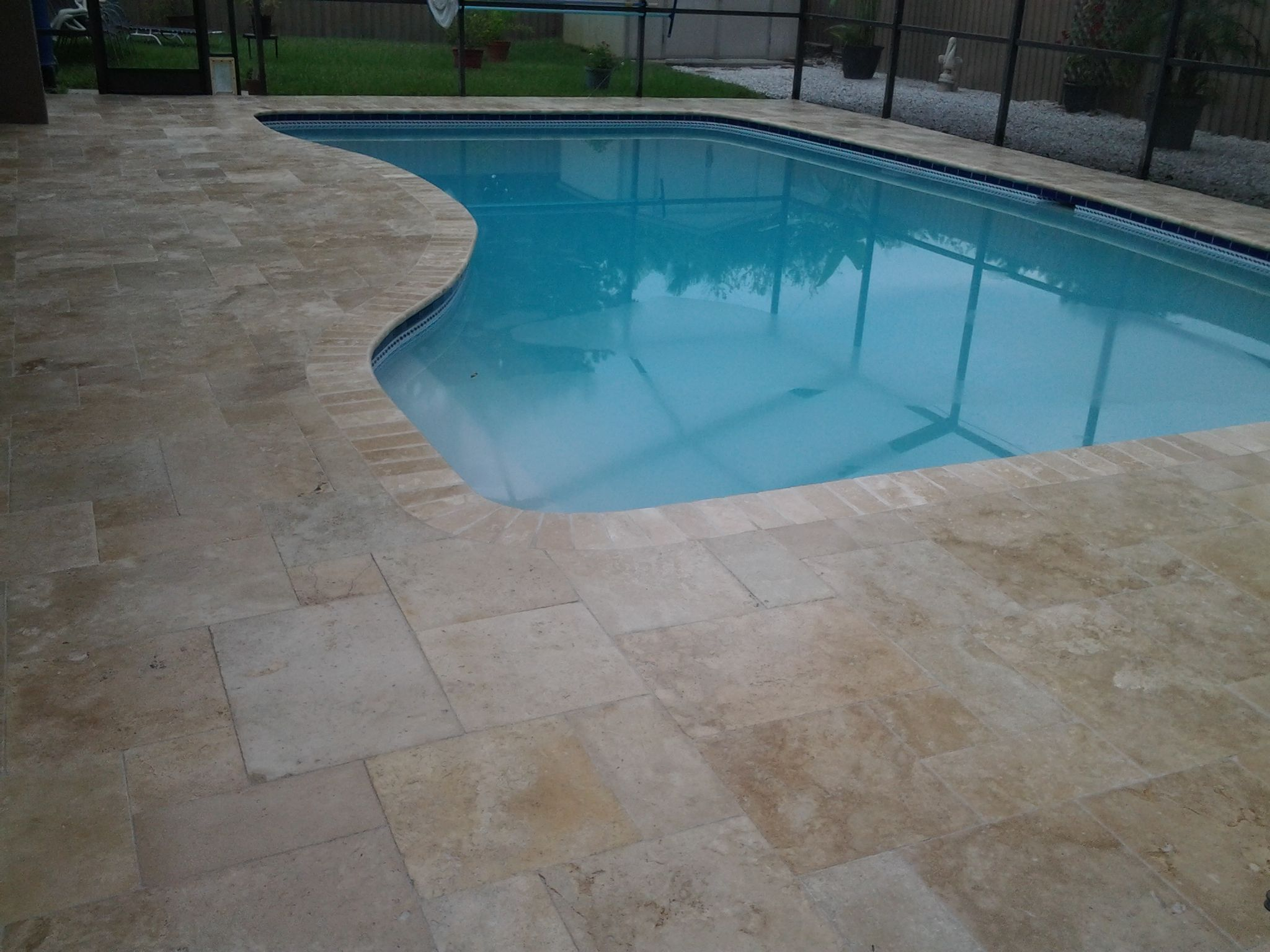Travertine Pavers Pool Deck Installation In 2019