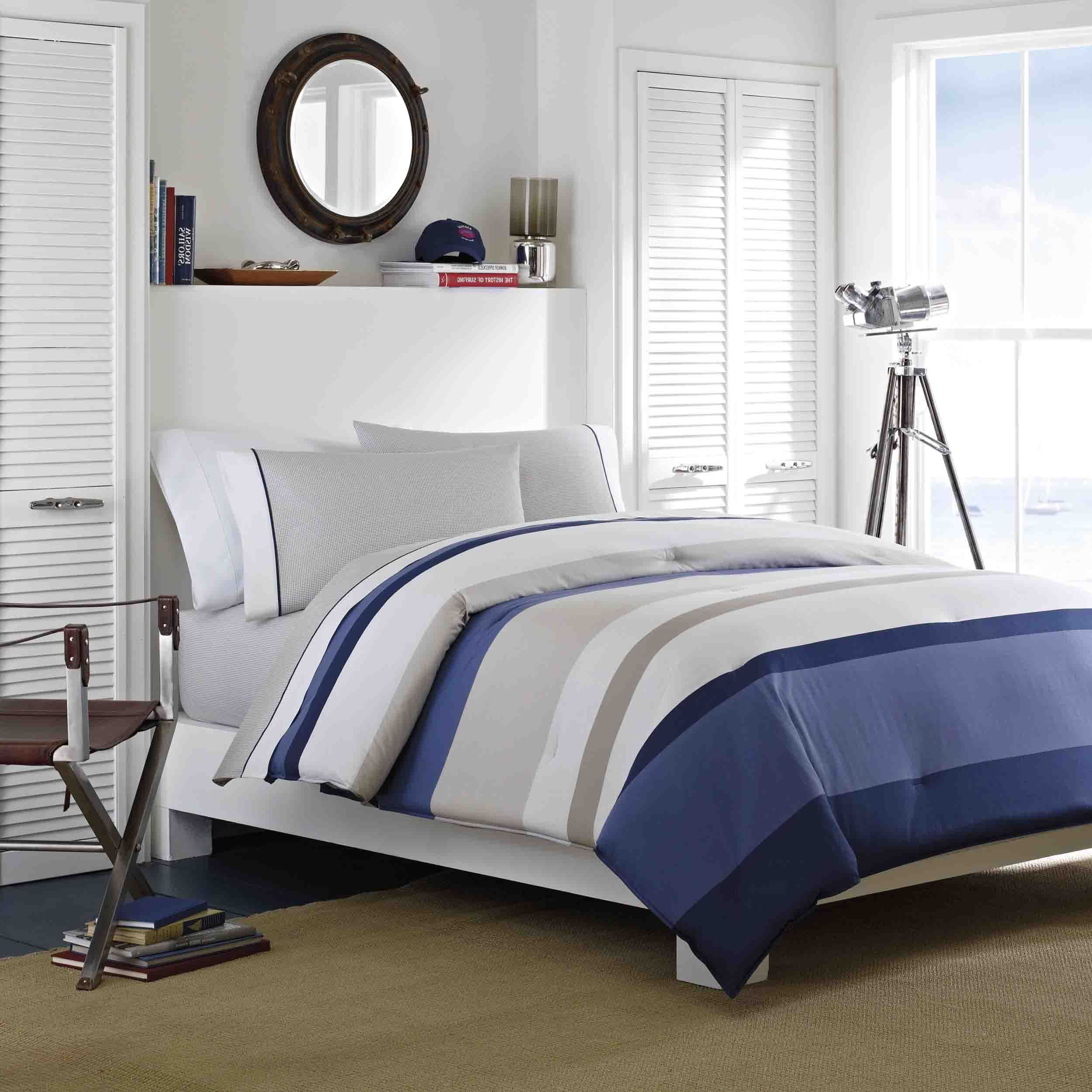 nautica set soft beyond king cotton margate european color slim comforter stripe grey bedroom pattern with sham throw pillow nautical comforters bath palette chevron bedding bed and style
