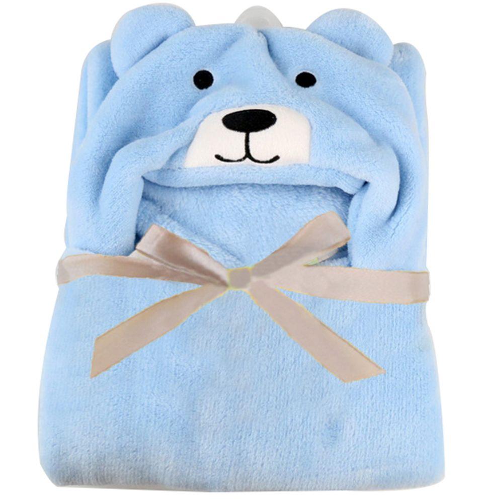 Leegoal 3D Bear Baby Infant Newborn Hooded Bath Towel Blankets (Blue ...