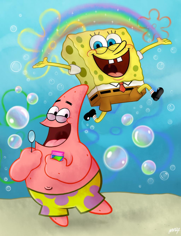 Imaaaagiinnaaaaaaa By Mn27 Spongebob Wallpaper Spongebob Drawings Spongebob Painting
