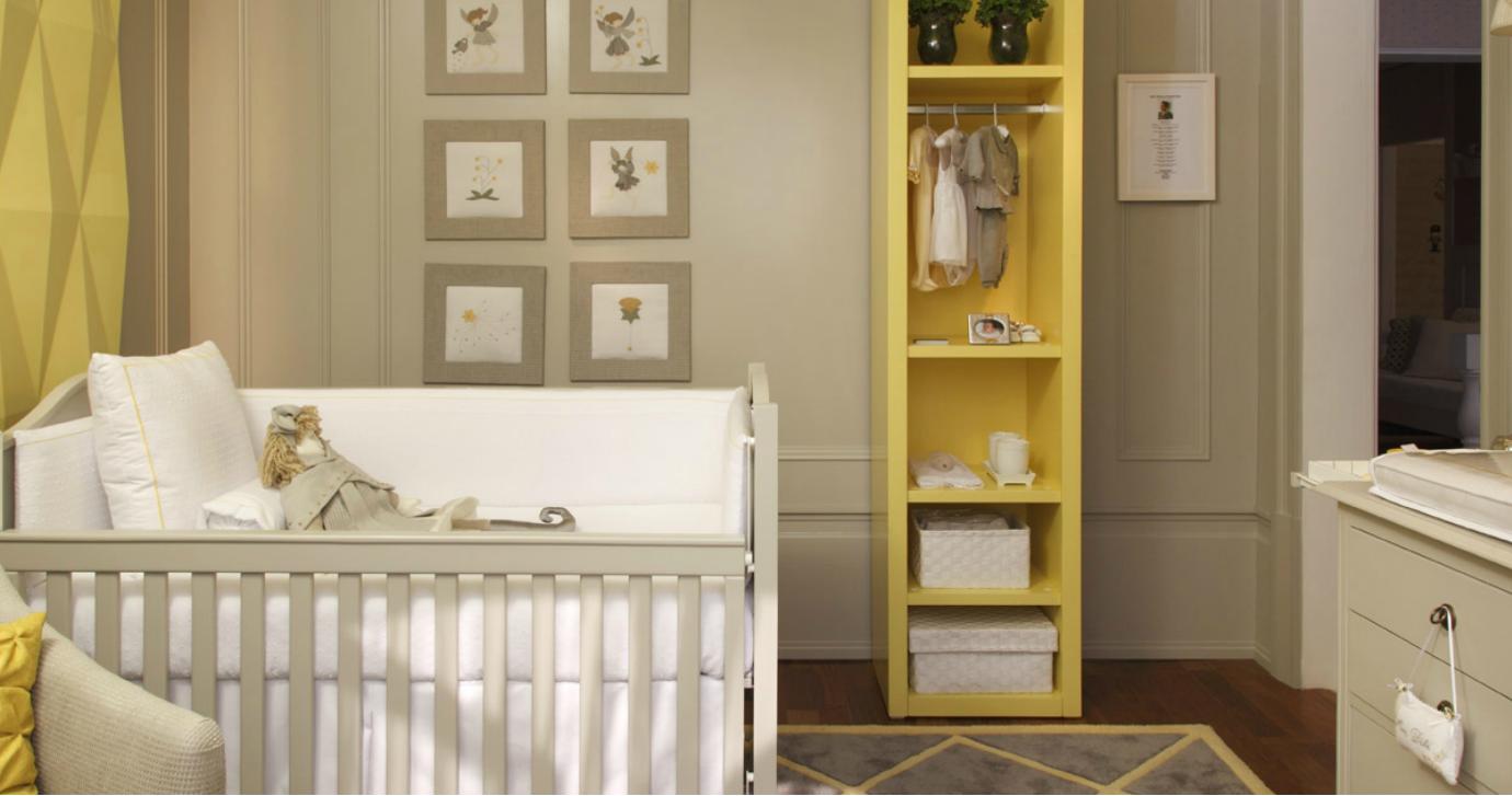 Quarto beb cinza amarelo assimeugosto decor interiores
