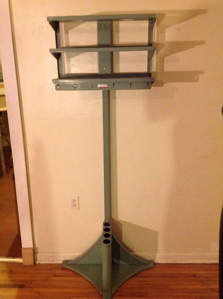VINTAGE THE OFFICE VALET METAL INDUSTRIAL COAT RACK W UMBRELLA New Office Coat Racks