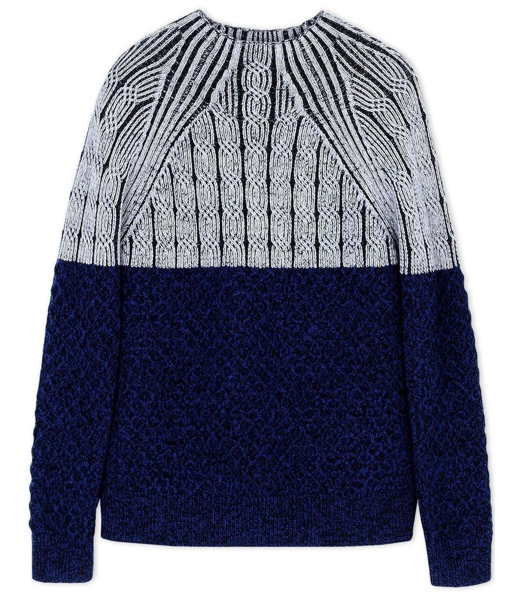 Proenza Schouler Navy Color-Block Wool Turtleneck Sweater | Stitch ...