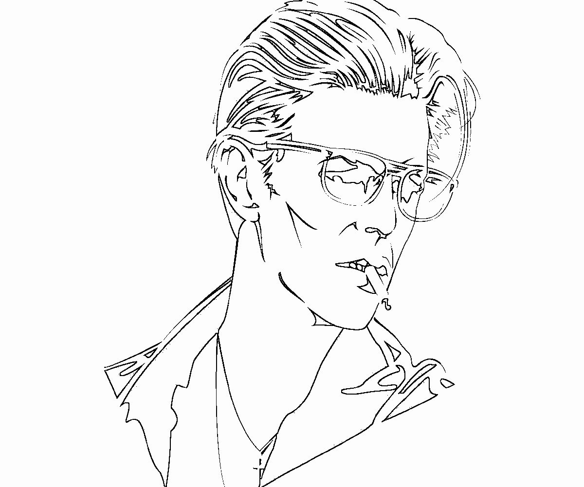 David Bowie Coloring Book New David Bowie Coloring Pages Coloring Books Manga Coloring Book David Bowie
