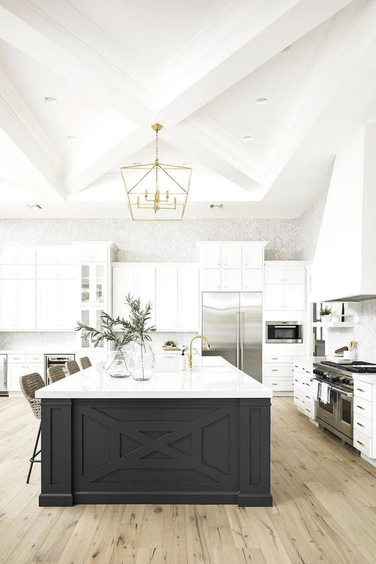 amusing black farmhouse kitchen | Amazing Black And White Kitchen Design Ideas | Home ...