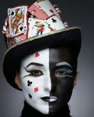 Makeuptutorial Theatre Bodyartist Bodyart Face Faceart Pokernight Funtime Faces Card Costume Halloween Makeup Halloween Makeup Clown