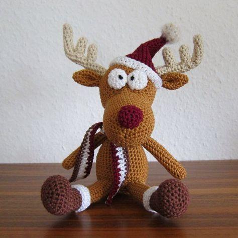Tobi the little Reeinder Christmas - Free Amigurumi Pattern.  FREE PATTERN 12/14.