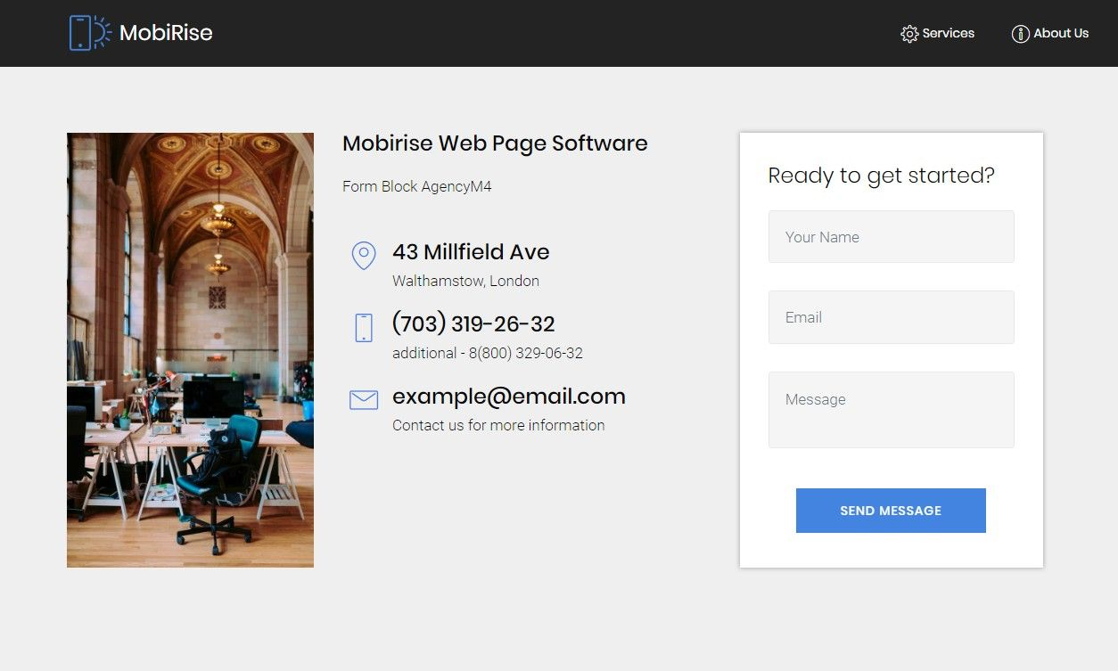 Mobirise Web Page Software Form Block Agencym4 Builder Website Form Subscribe Form
