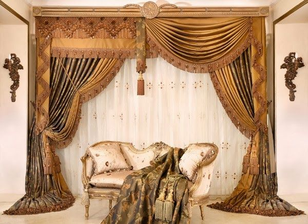 luxurious+living+room+curtains | living room design ideas