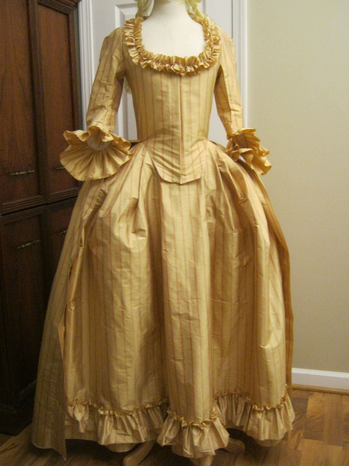 Silk Dupioni Colonial Gown with pinked edges for sale on Etsy by ...