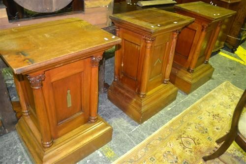 ... the three different orders - Fine & Antique Furniture + Estate &  General Furniture - Sale 8074 - Lot 1872 - Lawsons - Auctioneers, Sydney  and Melbourne - Set Of Three Masonic Maple Pedestals, With Turned Columns