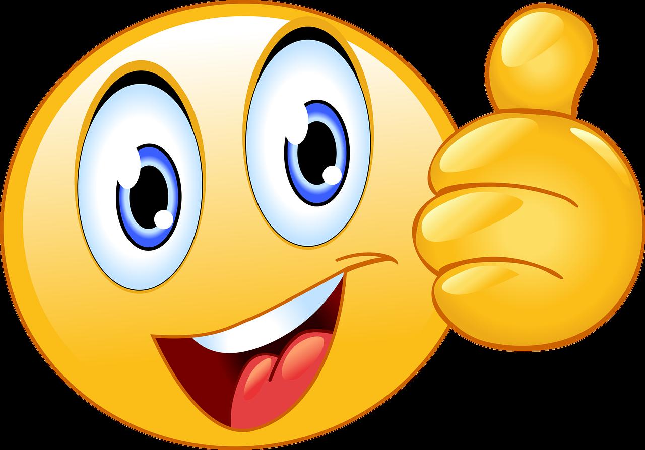 Gratis obraz na Pixabay - Kciuk W Górę, Buźka, Emoji | Smiley, Thumbs up  smiley, Excited emoji