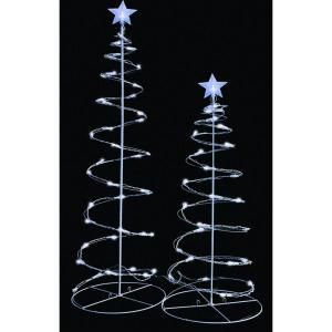 Sienna, 3 ft. and 4 ft. Pre-Lit LED Spiral Trees Clear Lights (Set of 2), R0404912X at The Home Depot - Mobile