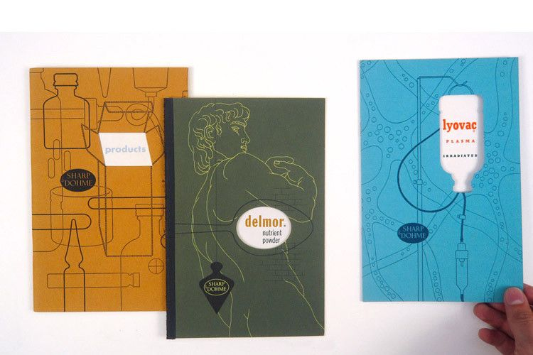 promotional booklets for pharmaceutical company Sharp & Dohme by Alexander Ross (1940's)