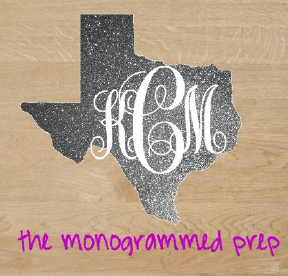 Glitter Monogram Car Decal Sticker Gold From TheMonogrammedPrep - Monogram car decal sticker