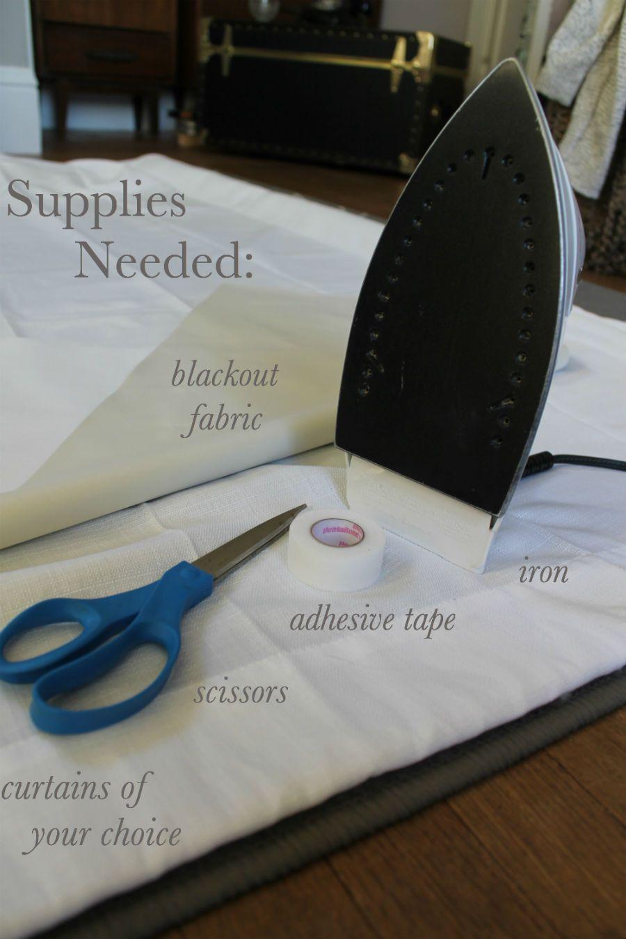 No sew diy blackout curtains cosas que me encantan en manualidades y bricolaje pinterest - Manualidades y bricolaje ...