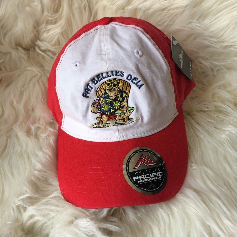 Pacific Head wear Mens -Baseball Cap Hat Red Fat Bellies Deli Old Orchard  Beach  fashion  clothing  shoes  accessories  mensaccessories  hats (ebay  link) 6c86e302fdc