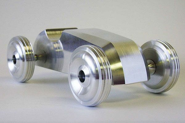 Karas Kustoms machined aluminum toy car - Doobybrain.com