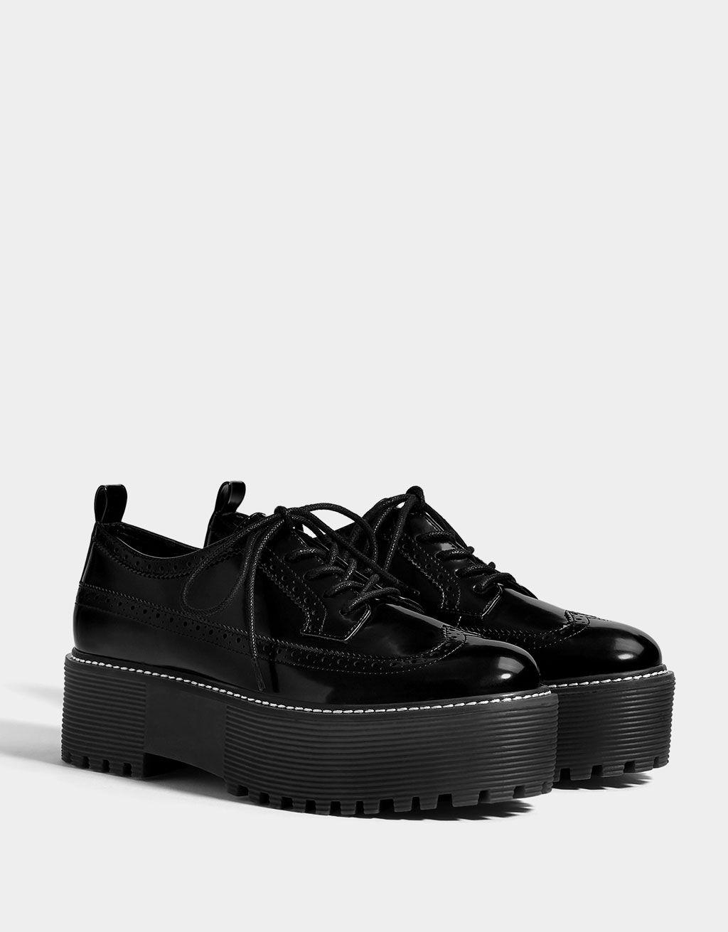 Platform Brogues Aesthetic Shoes Dark Shoe Goth Shoes