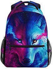 Photo of Amazon.com: ZZKKO Animal Wolf Colorful Boys Girls School Com…