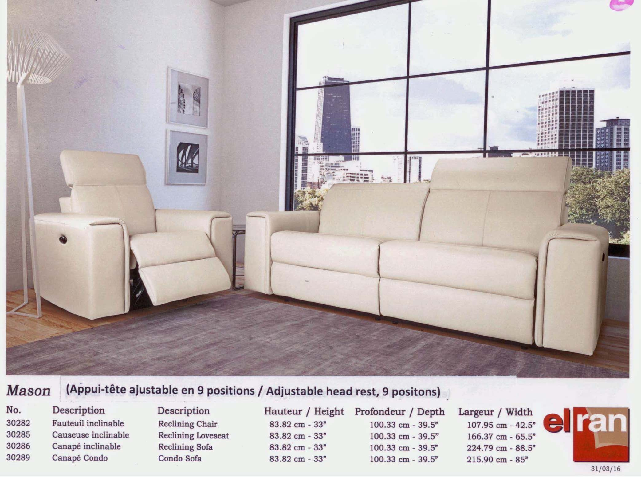 Elran Furniture Made In Canada Reclining Sofas Reclining Sofa