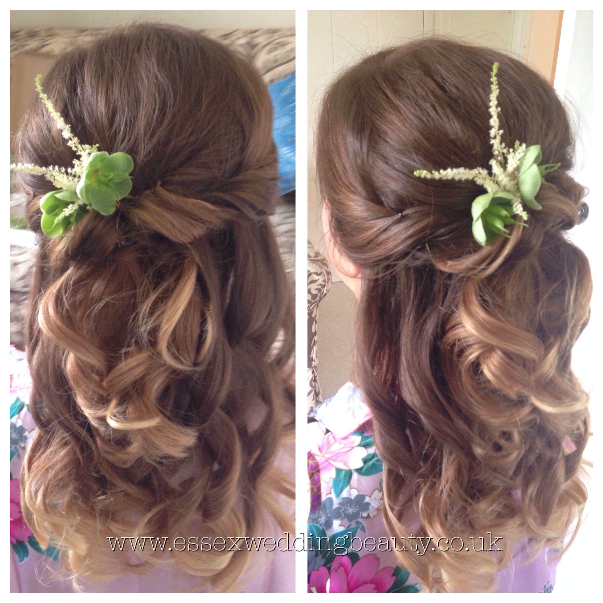 half up half down wedding hair bridesmaid | half up half down