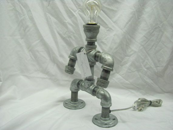 Medium Pipe Lamp by DenaliPipeworks on Etsy