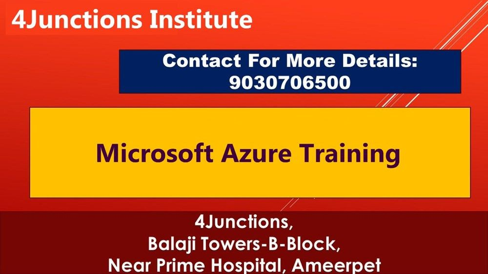 Microsoft Azure training in hyderabad, Azure training in ameerpet ...