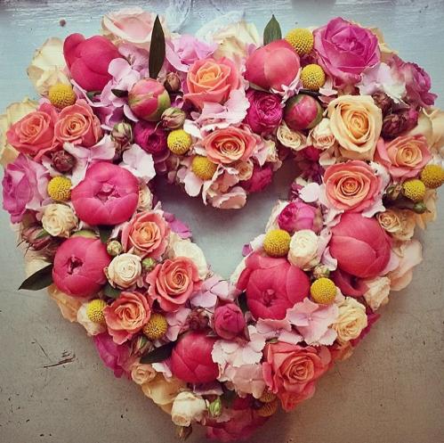 pink/peach/yellow heart