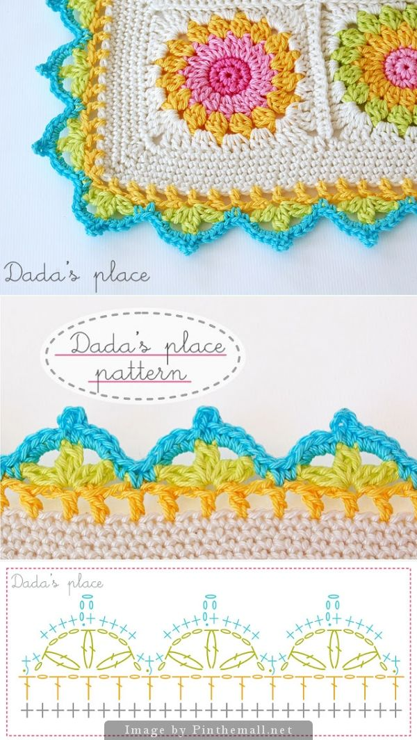 Crochet Border Dadas Place Crochet Patterns Pinterest