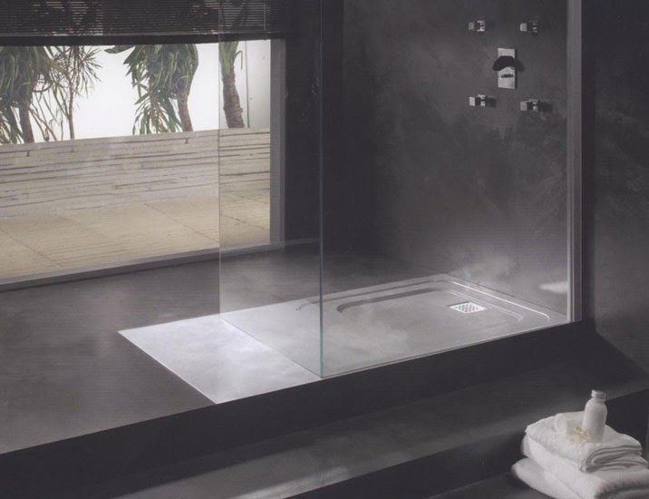 Polished concrete bathroom google search surface area pinterest wet rooms polished for Polished concrete floor bathroom
