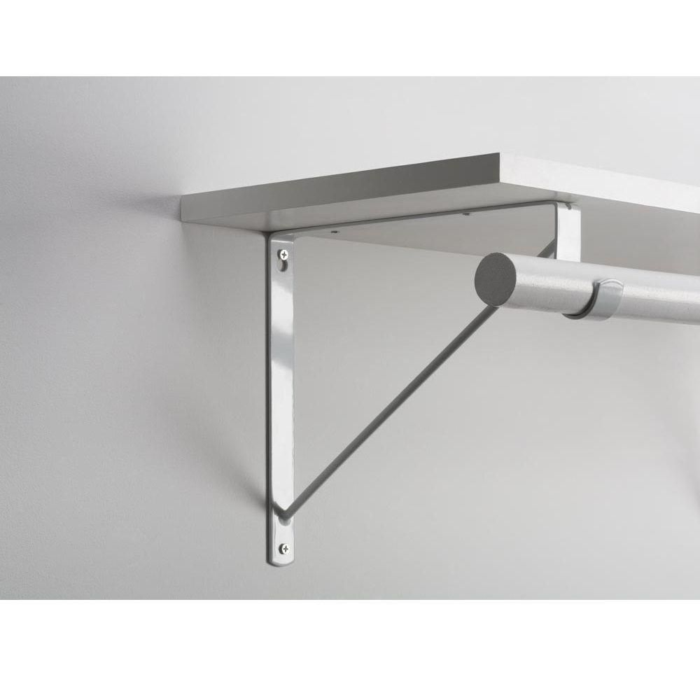 Everbilt White Heavy Duty Shelf Bracket And Rod Support 14317 Decoracao De Casa Suportes De Prateleira Ideias De