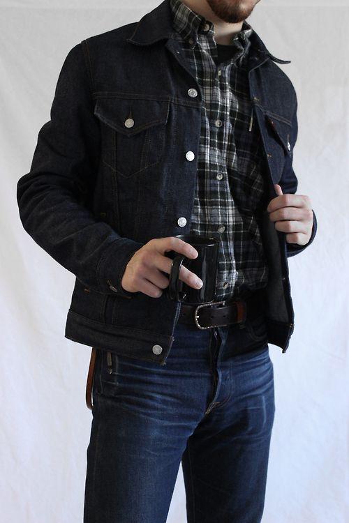 Casual with jean jacket and jeans | Moda uomo, Moda